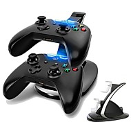Dual USB Charging Station LED light Fast Two Charging Charge Dock Stand with USB Charge Cable for Microsoft Xbox One&S Gaming Controllers