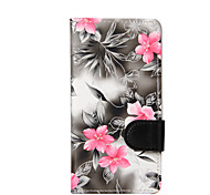 For LG K10 K8 Mini Flowers PU Leather Case for LG K4 LG G3