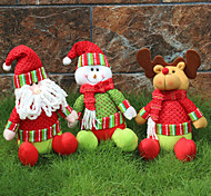1шт случайных складная горячей продажи рождественские украшения Санта-Клауса снеговик рождественские фигурки
