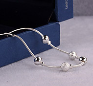 cheap -Women's Anklet / Bracelet Sterling Silver Simple Style Anklet Jewelry For Wedding Party Daily Casual