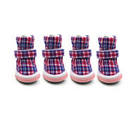Dog Shoes & Boots Keep Warm Fashion Plaid/Check Red Blue Pink For Pets