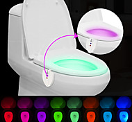 abordables -BRELONG® 1 pieza Luz de baño Con Sensor Impermeable Luz Ultravioleta Color variable