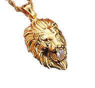 Муж. Женский Ожерелья с подвесками В форме животных Лев Нержавеющая сталь Искусственный бриллиант Мода Бижутерия Назначение Для вечеринок