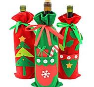 Недорогие -рождественские украшения новый набор шампанского бутылку вина подарочные пакеты конфет мешок рождественские цвета продуктов случайным