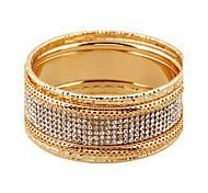 Women's Wrap Bracelet Alloy Simulated Diamond Punk Simple Style Silver Golden Jewelry 1pc