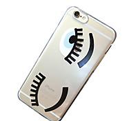 ресницы шаблон ТПУ прозрачные мягкие оболочки телефон случае задняя крышка чехол для iphone6 плюс