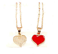 Женский Ожерелья с подвесками В форме сердца Сплав Любовь бижутерия Мода Бижутерия Назначение Для вечеринок