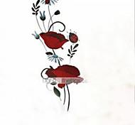 ботанический Мультипликация Романтика Натюрморт Мода Цветы Наклейки Простые наклейки Декоративные наклейки на стены материал Съемная
