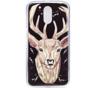 For Motorola MOTO G4 Case Cover Deer Pattern Luminous TPU Material IMD Process Soft Phone Case