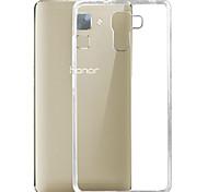 Недорогие -Для Кейс для Huawei Ультратонкий / Прозрачный Кейс для Задняя крышка Кейс для Один цвет Мягкий TPU Huawei Huawei Honor 7