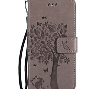 For Nokia Lumia 650 950 PU Leather Material Cat and Tree Pattern Butterfly Phone Case for Lumia 640 435 635 550