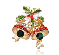 Men's Women's Brooches Chrismas Luxury Imitation Diamond Jewelry For Party Daily Christmas Gifts