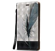 preiswerte -Hülle Für Samsung Galaxy Kreditkartenfächer Geldbeutel Flipbare Hülle Ganzkörper-Gehäuse Feder Hart PU-Leder für Note 5 Note 4 Note 3