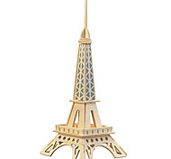 Jigsaw Puzzles Wooden Puzzles Building Blocks DIY Toys Small Paris Eiffel Tower (Light Blue)1 Wood Ivory Model & Building Toy