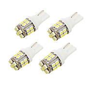 cheap -YouOKLight® 4PCS T10 2W 200lm 24-SMD1206  6000K  White LED Car Bulb Light(DC12V)