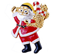 Women's Girls' Boys' Brooches Chrismas Luxury Costume Jewelry Imitation Diamond Jewelry For Party Daily Christmas Gifts