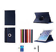 cheap -High Quality Rotating series Stand Leather Case For Apple iPad 6 iPad air2 Case +Screen Protector+Stylus