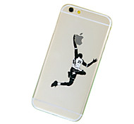 Недорогие -баскетбол шаблон ТПУ прозрачный мягкий случай телефона для iPhone 6 / 6с