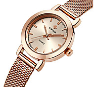 cheap -WWOOR Women's Fashion Watch Quartz Water Resistant / Water Proof Stainless Steel Band Charm Luxury Casual Silver Gold Rose Gold