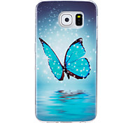 For Case Cover Glow in the Dark IMD Pattern Back Cover Case Butterfly Soft TPU for Samsung Galaxy S7 edge S7 S6 edge S6 S5