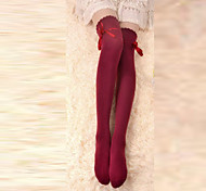 Socks/Stockings Classic/Traditional Lolita Lace-up Red Lolita Accessories Stockings Bowknot For Cotton