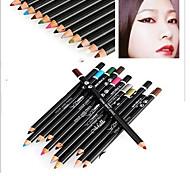 maquiagem dos olhos mistura clássica (false cílios + cílios pinças + delineador + sombra do olho mascara + caneta)