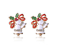 Earring Stud Earrings Jewelry Women / Girls Party / Daily Alloy 1 pair White / Red