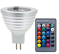3W GU5.3(MR16) Точечное LED освещение MR16 1 COB 280 lm RGB К Диммируемая На пульте управления Декоративная DC 12 V