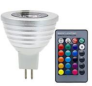 cheap -3W GU5.3(MR16) LED Spotlight MR16 1 COB 280 lm RGB K Dimmable Remote-Controlled Decorative DC 12 V