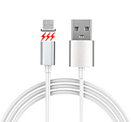 cheap -Cwxuan® Micro USB Metal Magnetic Adhesion Data Sync Charging Cable for Samsung Huawei and Other Android Smart Phones