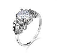 Ring AAA Cubic Zirconia Zircon Cubic Zirconia Simple Style Fashion White Jewelry Casual 1pc