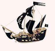 cheap -Wooden Puzzles Ship Pirate Ship Professional Level Wood 1pcs Pirate Pirates Kid's Girls' Boys' Gift