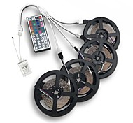 cheap -20M(4*5M) 3528 RGB 1200LED Flexible Strip Light No-waterproof DC 12V with 44Key IR Remote Controller Kit