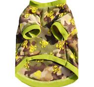 Собака Жилет Одежда для собак На каждый день Английский Камуфляж цвета