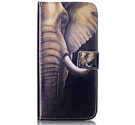 cheap -Case For Apple iPhone 5 Case iPhone 6 iPhone 7 Card Holder Wallet with Stand Flip Full Body Cases Elephant Hard PU Leather for iPhone 7