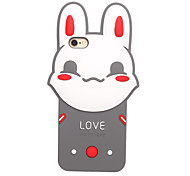 3D Cute Rabbit Silicone Case for iPhone 7 7 Plus 6s 6 Plus SE 5s 5