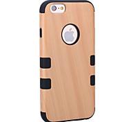 Кейс для Назначение Apple iPhone 8 iPhone 8 Plus Защита от удара Защита от пыли Чехол Имитация дерева Твердый Дерево для iPhone 8 Plus