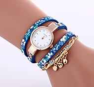 cheap -Women's Bracelet Watch Fashion Watch Quartz Casual Watch Leather Band Elegant Black Blue Grey