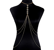 Недорогие -Цепь Тела / Belly Chain Сплав Богемные Мода Геометрической формы Украшения для тела Назначение Новогодние подарки Для вечеринок Особые