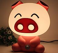 Pretty Cute Pig  Cartoon Animal LED Night Light Baby Room Sleeping Light Bedroom Desk Lamp Night Lamp Best for Gifts