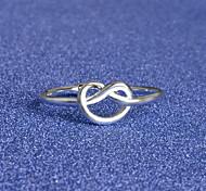 Недорогие -Кольцо - Серебрянное покрытие, Сплав Сердце, Любовь Открытые Стандартный размер Серебряный Назначение Особые случаи / Повседневные