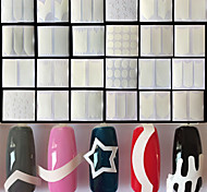 cheap -24PCS Nail Art Sticker  French Tips Guide Makeup Cosmetic Nail Art Design