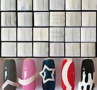 Недорогие -24 Стикер искусства ногтя Руководство Советы Французский макияж Косметические Ногтевой дизайн