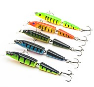 "5 pcs Hard Bait Minnow Fishing Lures Hard Bait Minnow Assorted Colors g/Ounce,105 mm/4-1/4"" inch,Hard PlasticSea Fishing Bait Casting"