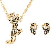 Недорогие -Женский Свадьба Для вечеринок Повседневные Сплав Животный принт Матовый черный 1 пара сережек Ожерелья