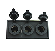 12V/24V 3PCS Power socket with housing holder panel for car boat truck RV(With three Power charger)
