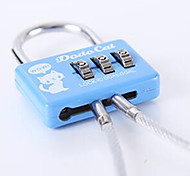 cheap -Luggage Lock Coded Lock Padlock 3 Digit Anti-theft Coded lock Luggage Accessory For Luggage Plastic Canvas Metal