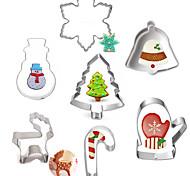 выпечке Mold Мультфильм образный Животный принт Для торта Для Cookie Для Pie Нержавеющая сталь Сделай-сам Новогодняя тематика