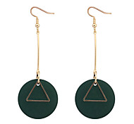 Drop Earrings Hoop Earrings Copper Wood Simple Style Fashion Black Red Green Jewelry Daily 1 pair