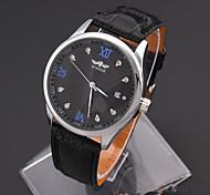 Men's Sport Watch Fashion Watch Wrist watch Mechanical Watch Simulated Diamond Watch Automatic self-winding Genuine Leather Band Vintage